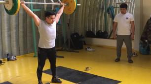 Ауыр атлеттеріміз алғашқы жаттығуларына кірісті