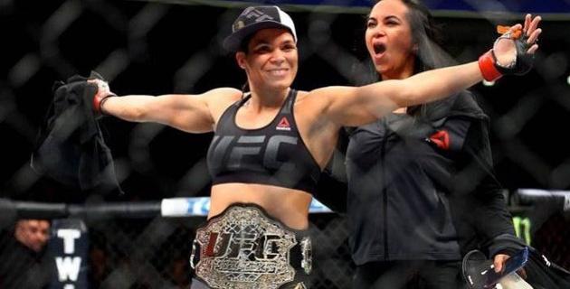 Ронда Роузиді жеңген файтер UFC чемпионы титулын сәтті қорғады