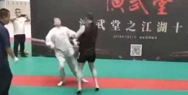 MMA файтері Ушу шеберін 30 секундта терең нокаутқа түсірді
