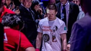 UFC-дегі алғашқы жекпе-жегі алдында Жұмағұловқа арнайы экипировка берілді