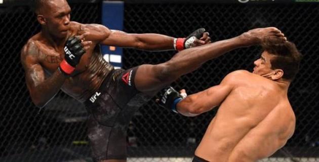 UFC-дің басты жекпе-жегінде бразилиялықты сабап тастаған Адесанья белбеуін қорғап қалды