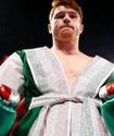 """""""Канело"""" Чавеспен болатын кездесудің алдында украиналық боксшымен спарринг өткізіп жатыр"""