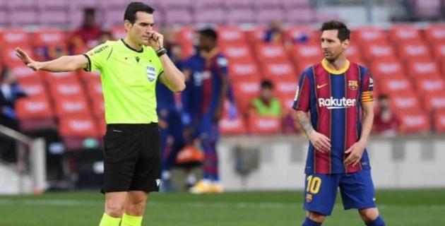 """""""Барселона"""" """"Реалмен"""" өткен кездесуде қазылық еткен төрешінің үстінен шағым түсті"""