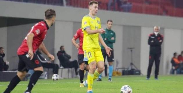 Қазақстанның Албанияға қарсы кездесуінде үздік футболшысы анықталды