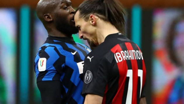 Ибрагимович пен Лукаку Италия кубогының матчінде жаға жыртысты