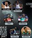 IAAF 2017 жылдың үздік жеңіл атлеттеріне үміткерлердің тізімін жариялады