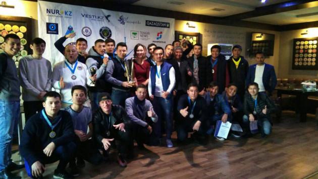 Футболдан журналистер арасында өткен жарыста EML командасы екінші орын иеленді