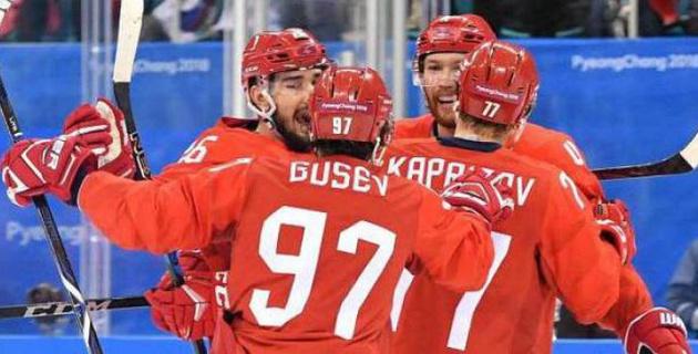 Хоккейден Ресей құрамасы Олимпиада ойындарының жартылай финалына шықты