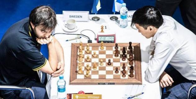 Шахматтан Астанада өтіп жатқан әлем біріншілігінде Қазақстан құрамасы бірінші жеңісіне қол жеткізді