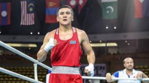 Қазақстандық боксшының 20 секундта Азия чемпионатының финалына шыққан сәтінің видеосы